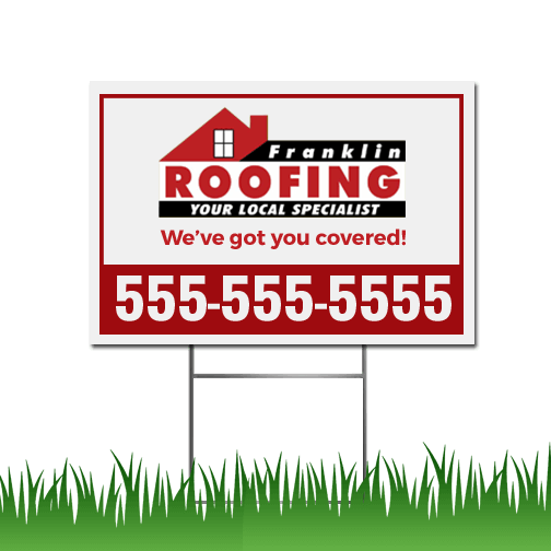 Roofing Yard Signs Best Roof 2019