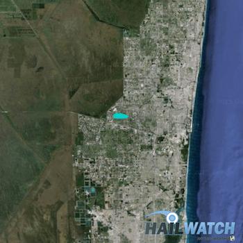 Map Of Sunrise Florida.Hail Report Sunrise Fl February 16 2016 Hailwatch