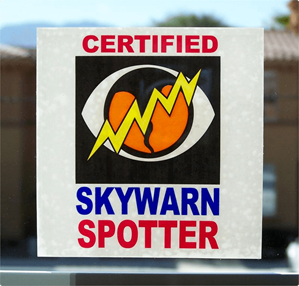 SKYWARN Certified Cling