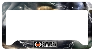 SKYWARN Metal License Plate Frame