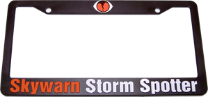 SKYWARN Storm Spotter License Plate Frame