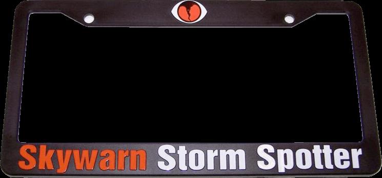 Anythingweather Skywarn License Plate Frame 1428