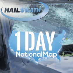 Single Day National HailSWATH Map