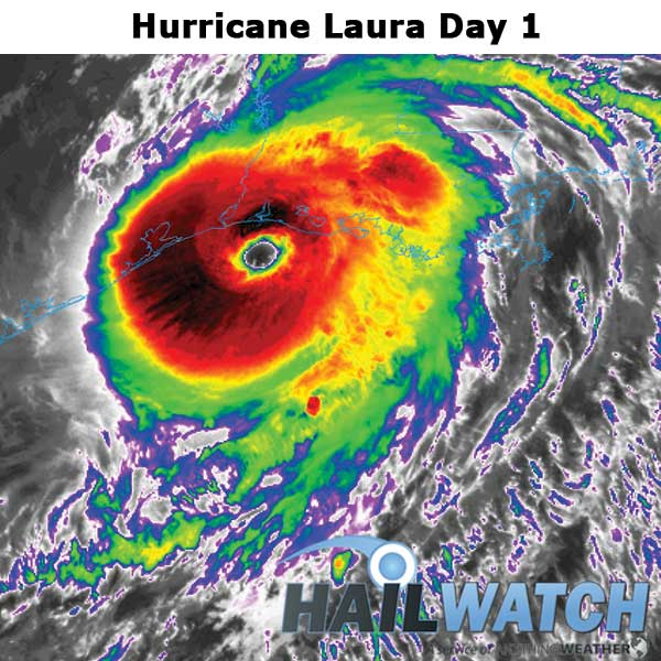 Hurricane Laura WindSWATH Day 1
