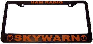 SKYWARN Ham Radio License Plate Frame