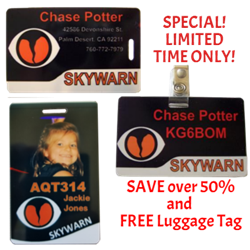 SKYWARN ID Badges Combo Pack Special