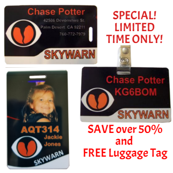 skywarn id badges combo pack
