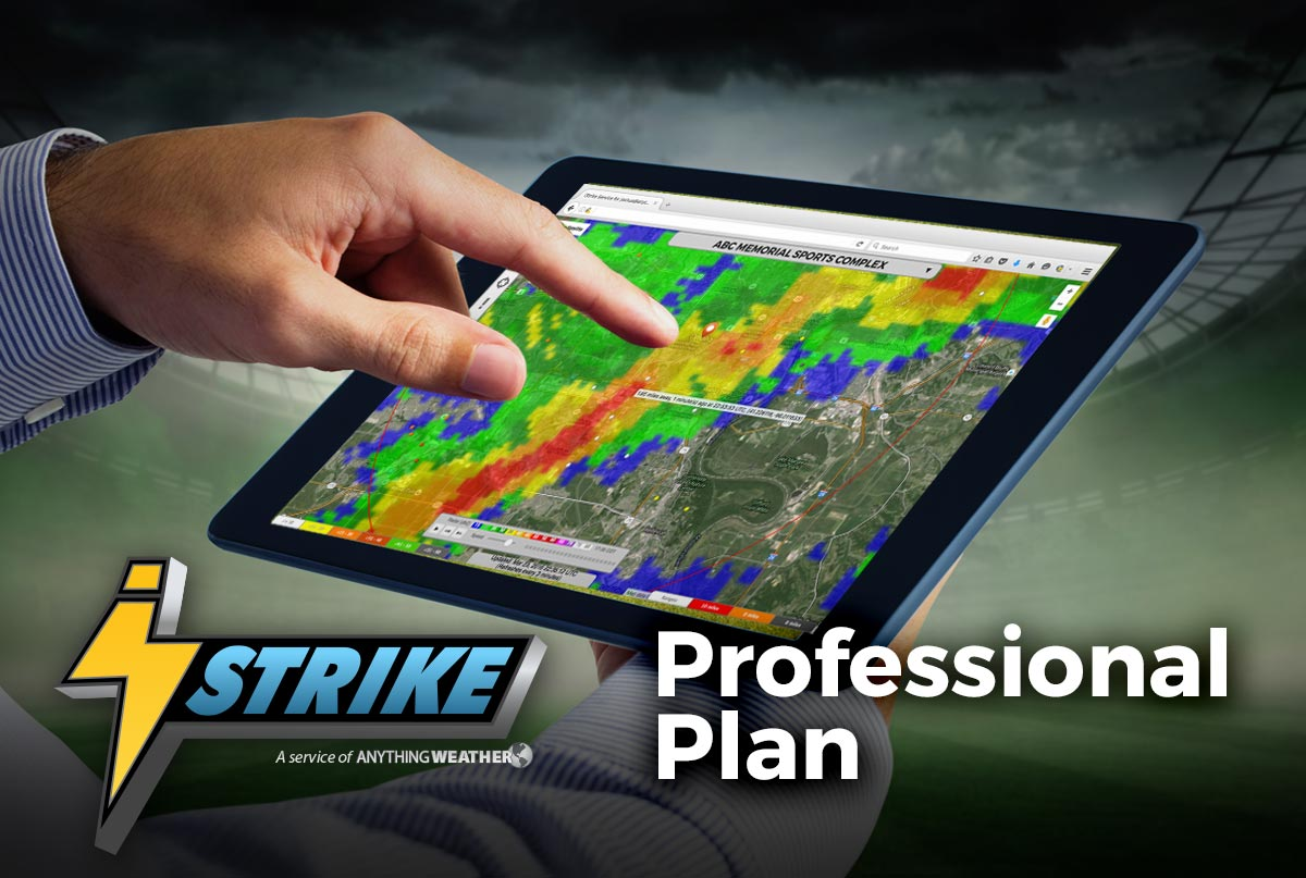 iStrike Professional Lighting Alerts and Tracking Plan