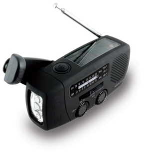 Eton FR150 MicroLink Solar-Powered, Self-Powered AM/FM/Weatherband Portable Radio with Flashlight and Cell Phone Charger