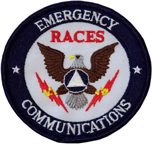 RACES Emergency Communications Patch with Eagle
