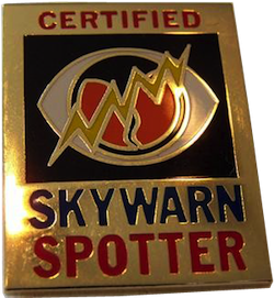 SKYWARN Certified Lapel Pin