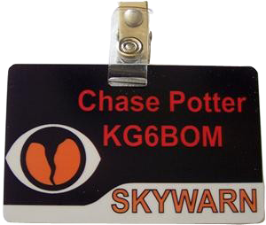 SKYWARN ID Badge