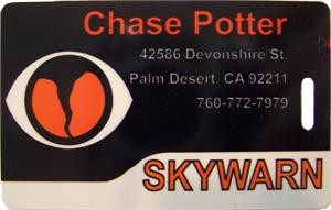 SKYWARN Luggage Tag ID